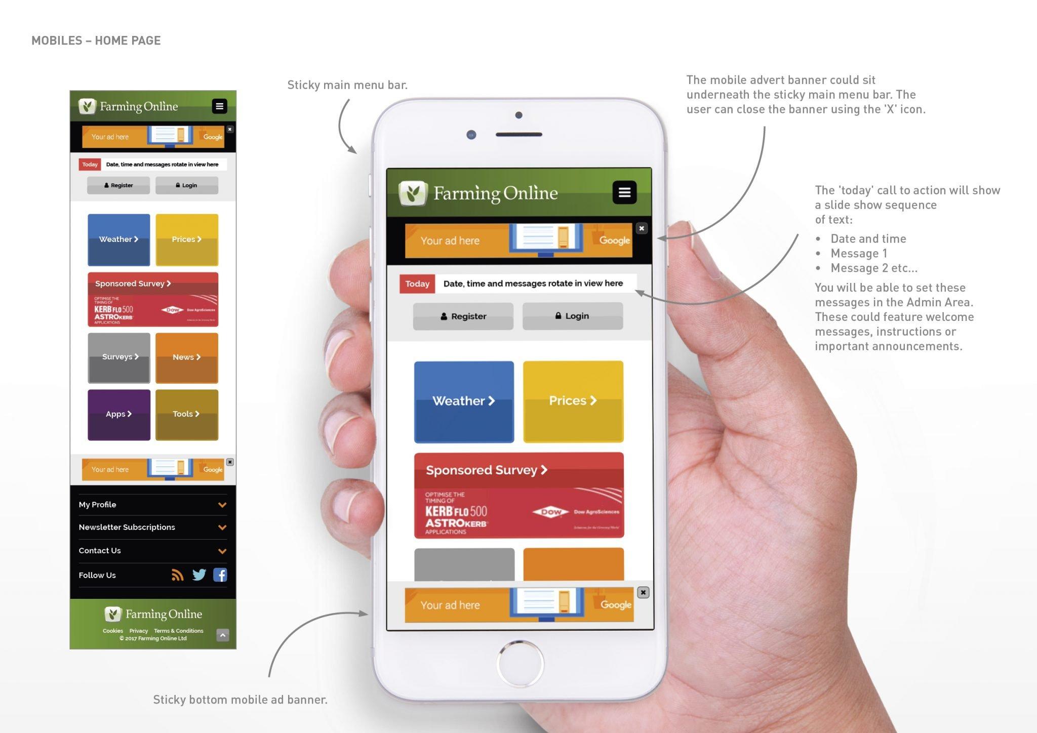 Farming online website concepts