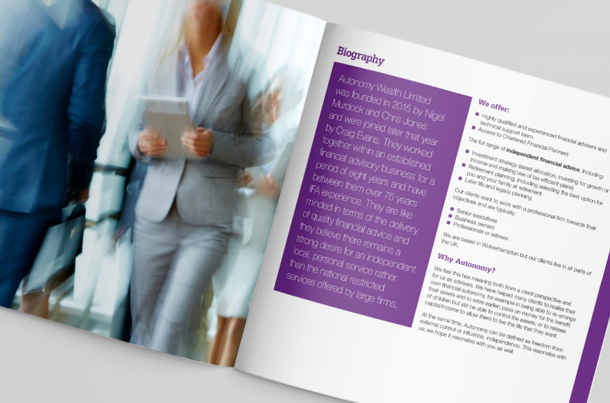 Autonomy Brochure Design