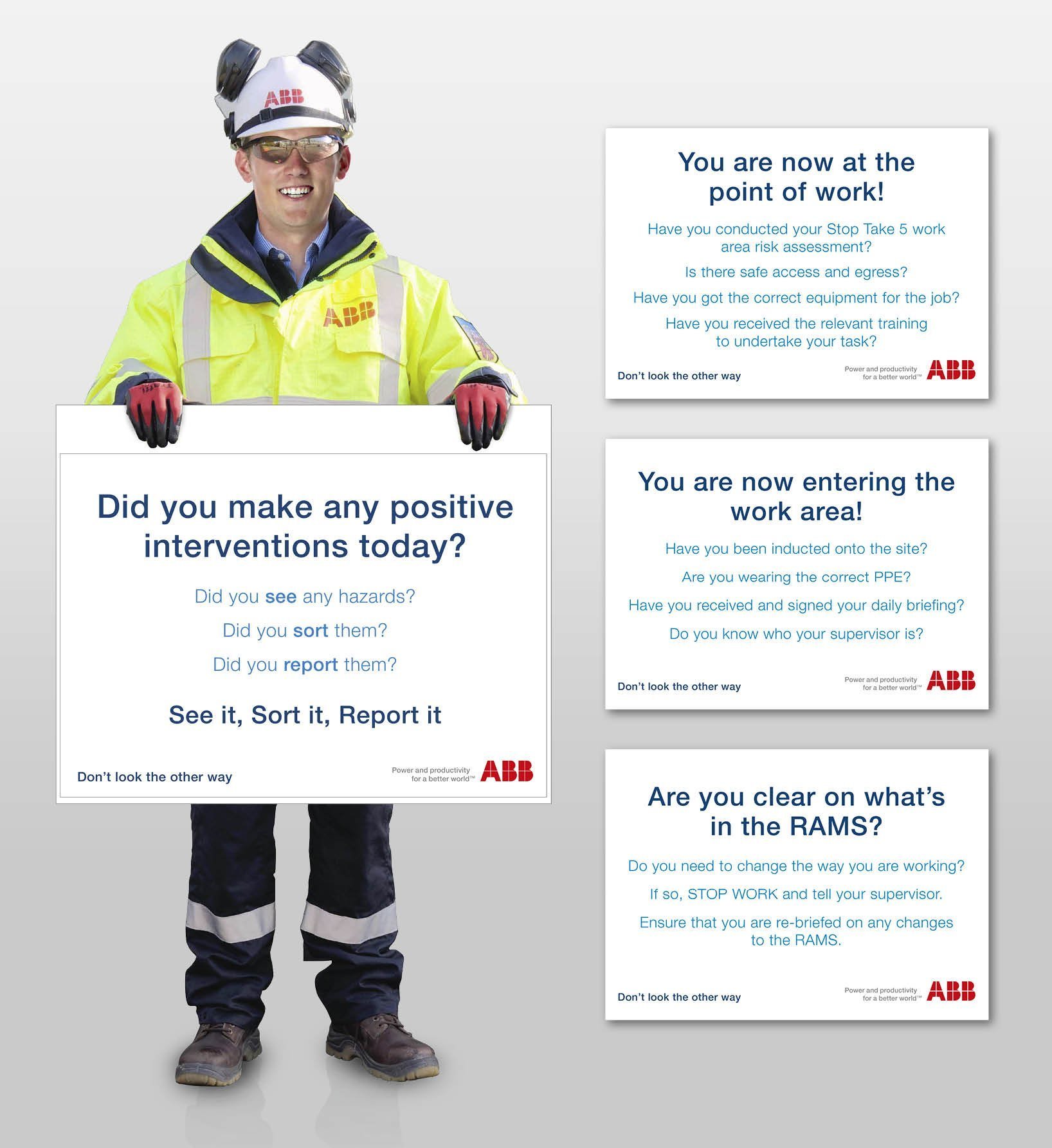 ABB Health & Safety Campaign - Site Standee Design