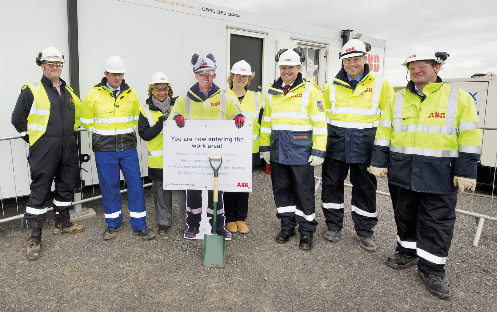 ABB Health & Safety Campaign - Site Standee Production