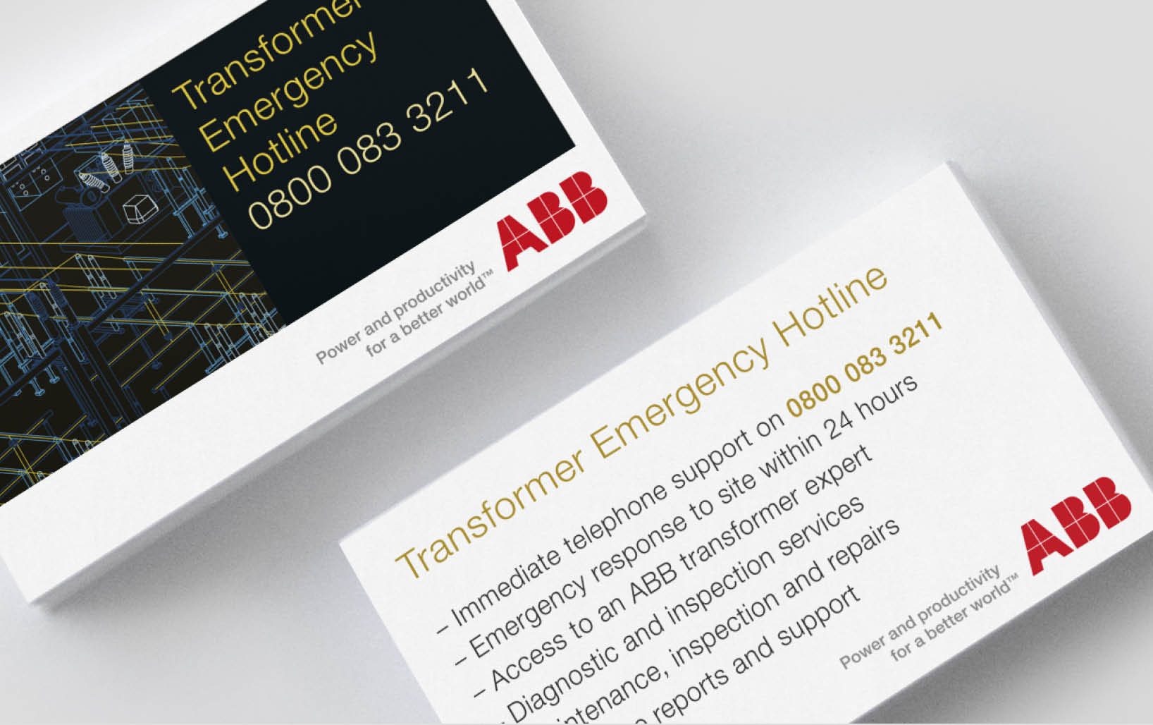 ABB Hotline Card Design
