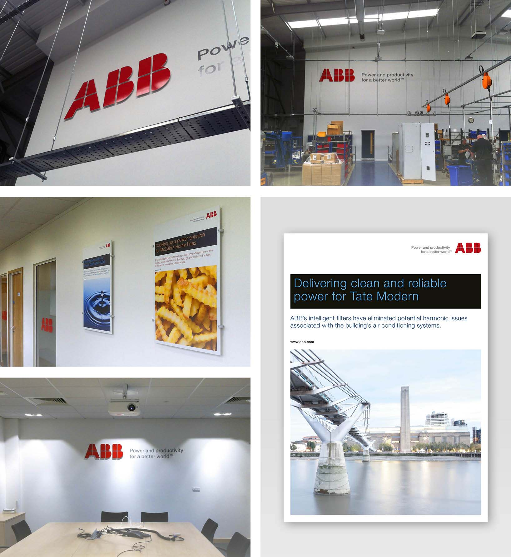 ABB Office and Warehouse Graphic Design