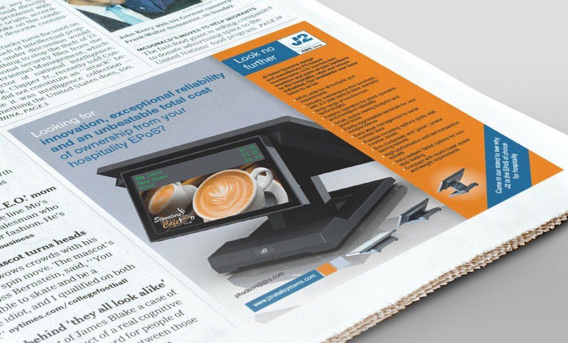 J2 Retails Systems Advert Design