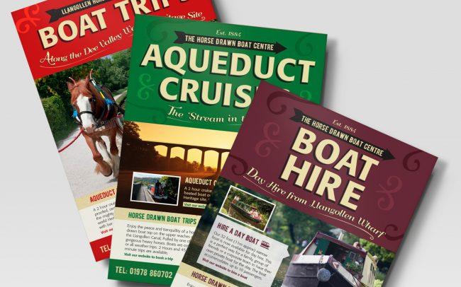 Horse Drawn Boat Advert Designs