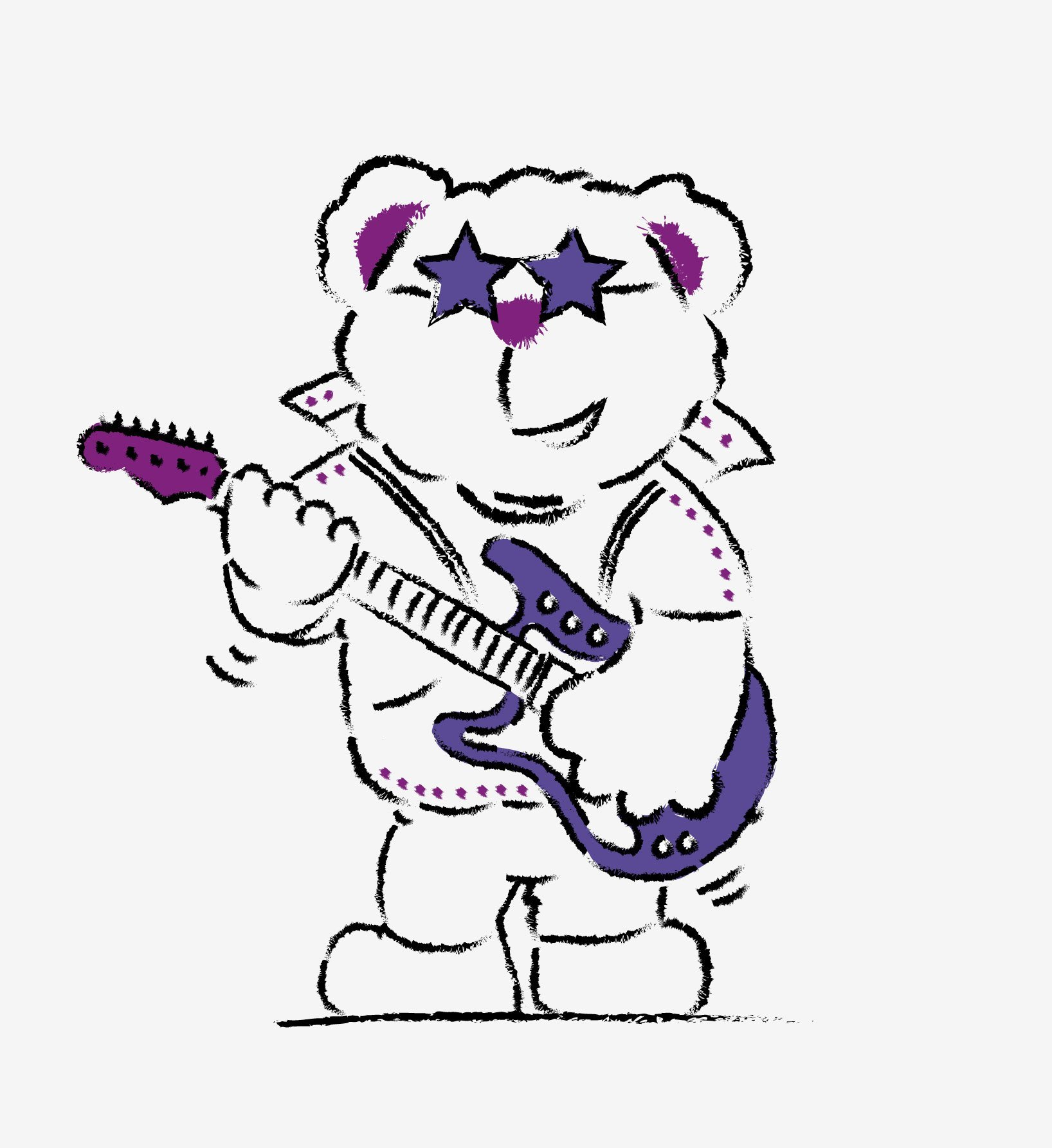 Bushbury Bear mascot design