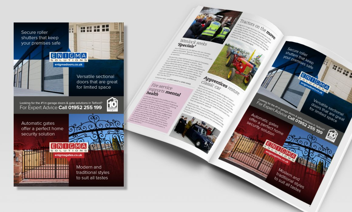 Advert design concepts for Engima