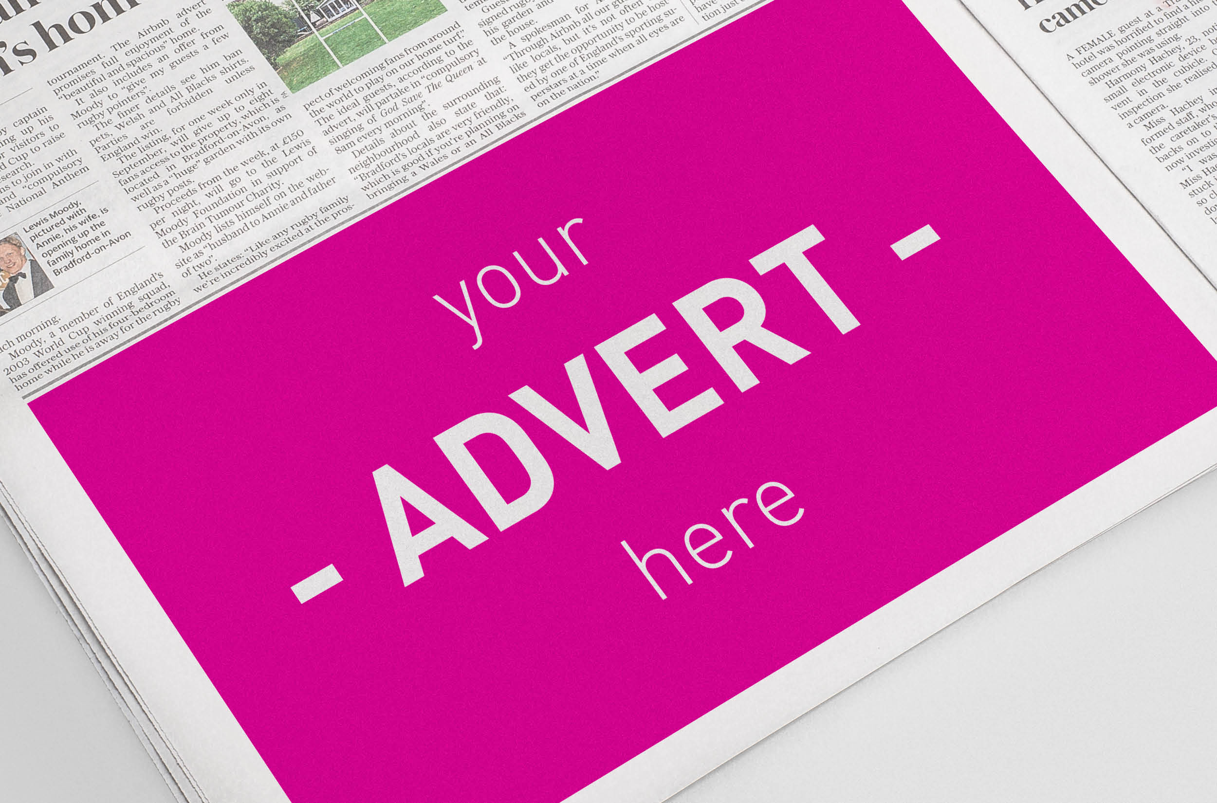 Adverts designed for you