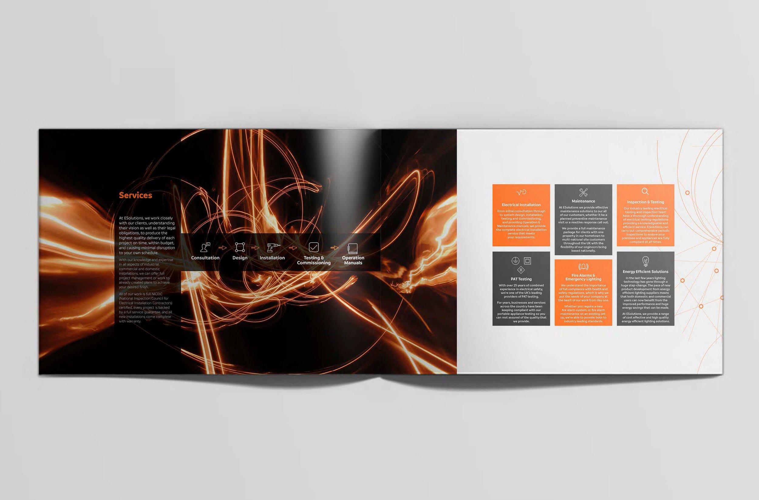 E-solutions brochure concepts