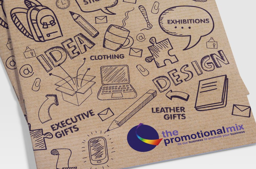 Illustration based print design for The Promotional Mix