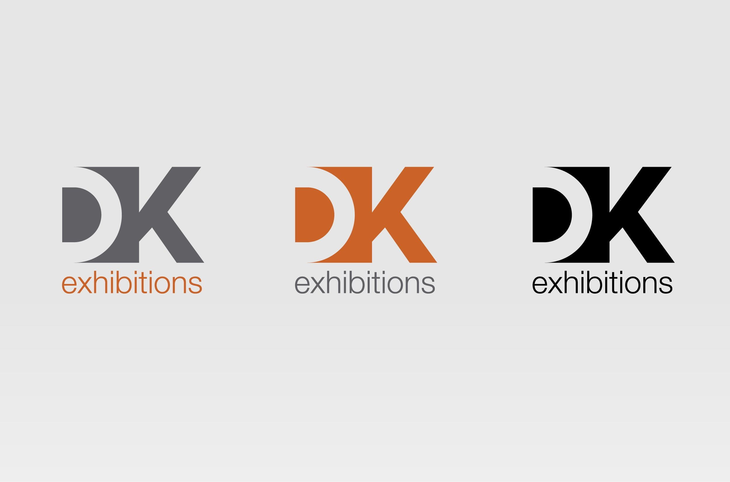 DK exhibitions logo colourways